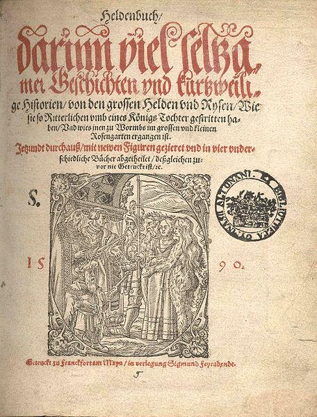 Titelblatt des Heldenbuches von 1590