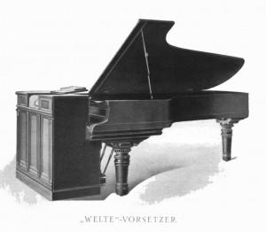 Welte-Mignon-Vorsetzer aus der Firmenzeitschrift von 1905 / 1906