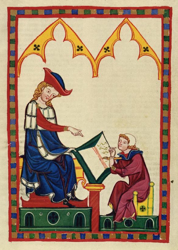 Konrad von Würzburg. Codex Manesse (fol.383r)