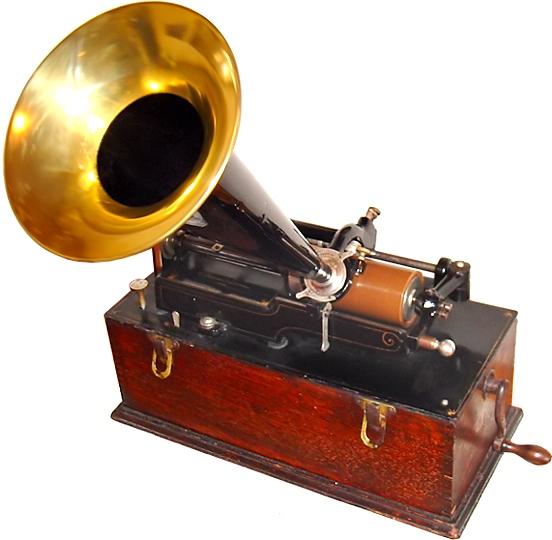 Edison Home Phonograph um 1900. Foto: Norman Bruderhofer 2006. www.cylinder.de