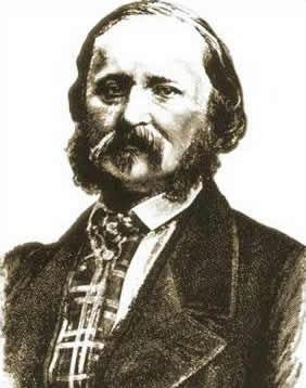 Eduard-Leon Scott de Martinville, der 1860 mit eimem Phonautographen die erste Tonaufnahme herstellte