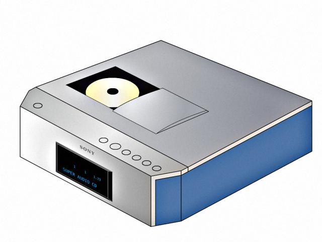 """Sony """"SCD-1"""", der erste SACD-Player aus dem Jahr 2000. Er gilt als Referenzplayer"""